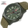 Ejército militar Reloj de Los Hombres A Prueba de agua Al Aire Libre Deporte Lumino Reloj Para Los Hombres Grandes del Dial Banda Relogio masculino Relojes Para Hombre de la Lona Regalos