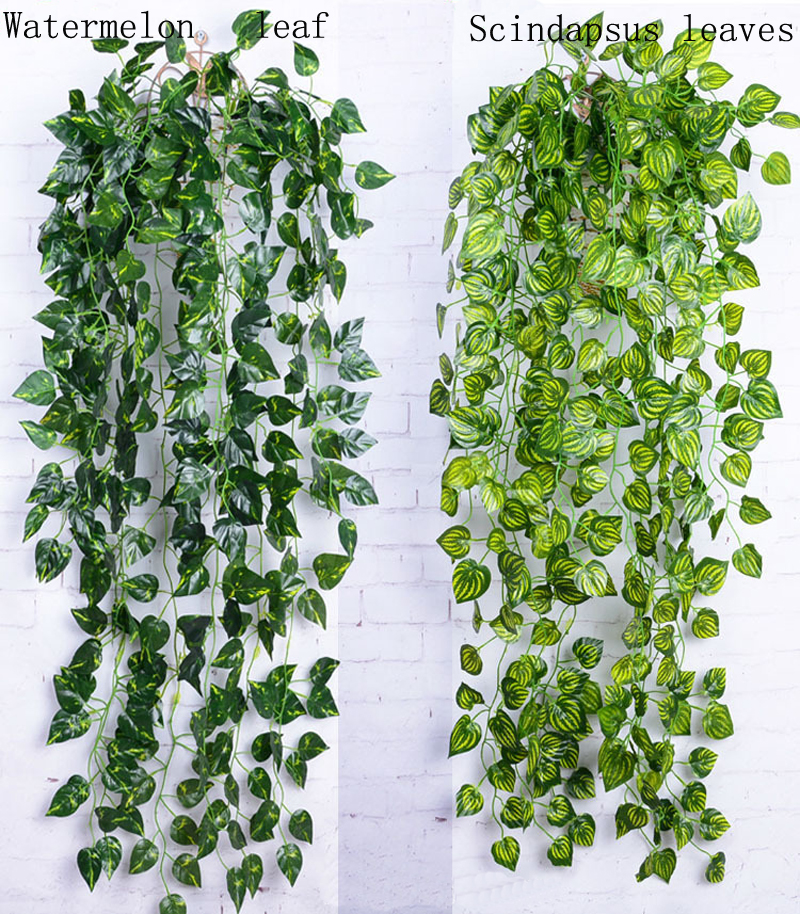 hoja artificial garland plantas ivy vine fake follaje flores colgantes decoracin de uva hojas de verde
