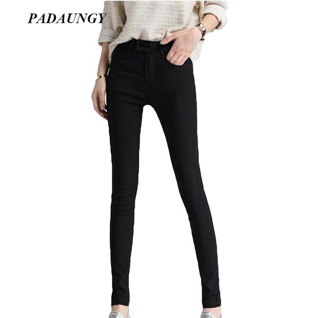 248bf3e589 PADAUNGY Negro Lápiz Pantalones Cintura Alta Pantalones Mujer Tallas grandes  Mujeres Flaco Delgado Negro Pantalones Sarouel