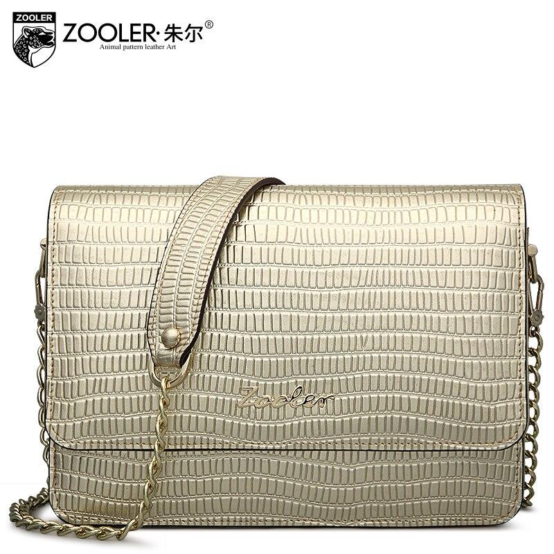 ФОТО ZOOLER Flap Bag Leather Female Chain Genuine Leather Crossbody Bag New Fashion Carteras Mujer De Hombro Cowhide Bags Ladies
