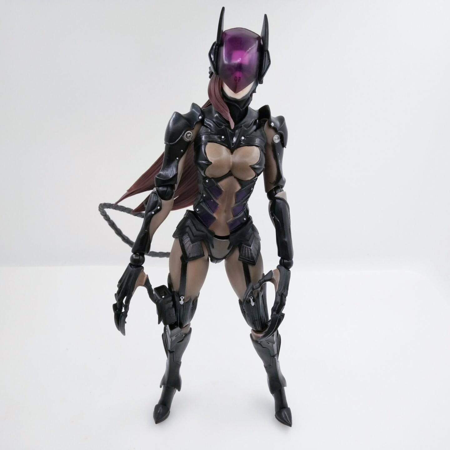 28cm Play arts Kai Final Fantasy DC catwoman Arkham Knight anime action toy figures PVC Model Collection original box