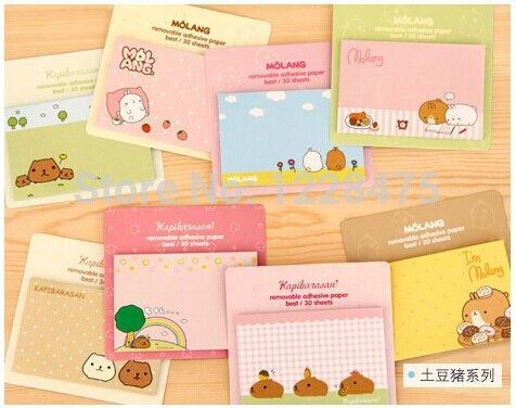 NEW rabbit & Piggy Notepad / sticky note Memo / message post / Removable adhesive paper