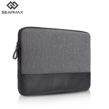 Laptop Sleeve Genuine Leather Black Gray Laptop Sleeve 11 12