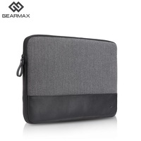 Laptop Sleeve Genuine Leather Black Gray Laptop Sleeve 11 12 13 14 15 Notebook Cover For