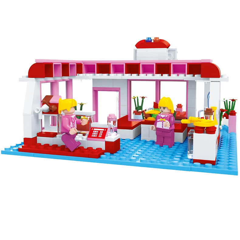 ФОТО Educational Coffee Shop Girl Friends Building Blocks Bricks Cartoon City Street Garden Cafe Toys Kids Compatible With Lepin
