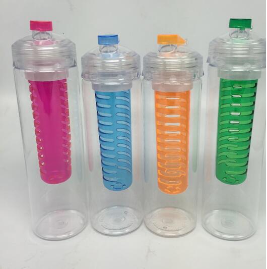 BPA бесплатно фрукты для заварки Вода Bottl Открытый Отдых Пеший Туризм Сок чайник фильтр бутылку воды дома школы Посуда для напитков 800 мл