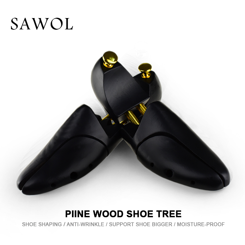 Wooden Shoe Tree For Genuine Leather Shoe Women shoes Men Shoes Sneakers Stretcher Shaper Keeper 1 Pair Adjustable Width Sawol ...