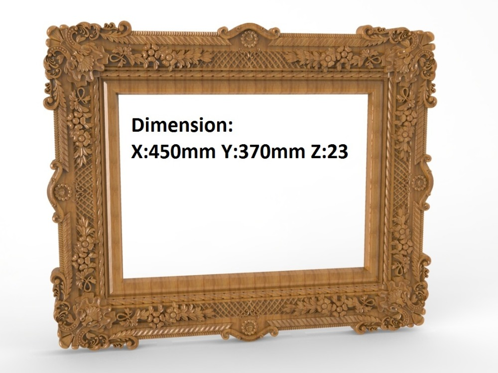 Mirror Box Frame 3D STL Artcam Model Cncn Router Engraving Carving R005