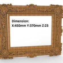 mirror box frame 3D STL artcam model cncn router engraving carving R005