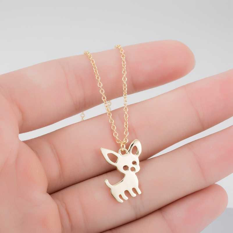 SMJEL New Cute Chihuahua Pet Pendant Necklaces for Women Love My Pet Animal Dog Necklace Choker Ketting Jewelry Gifts