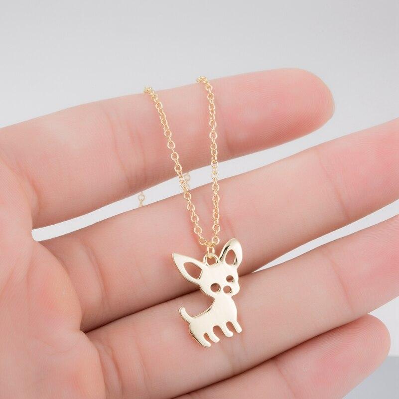 SMJEL новый милый чихуахуа ожерелье с подвеской в виде питомца для женщин ожерелье с надписью «Love My питомец животное собака» чокер украшения в...
