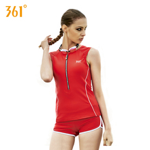 361 Women Two Piece Swimsuits Female Long Sleeves Swimsuit Red Pool Swim Suit Girl Black Professional Sports Bathing