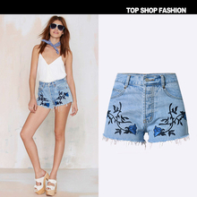 Hot!!! Retro high waist denim shorts female wild Sexy 1PC Womens Girl Denim High Waist Lady Shorts Jeans Shorts Vintage Jeans sh