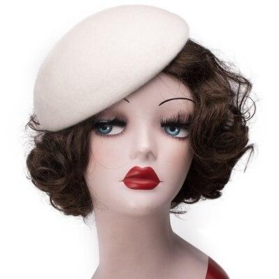 1pcs Women Pillbox Hat...