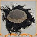 Парик шнурка мужчины база моно и НПУ мужской парик горячие продажи 100% реми волосы моно парик естественно волосяного покрова бесплатная доставка доставка