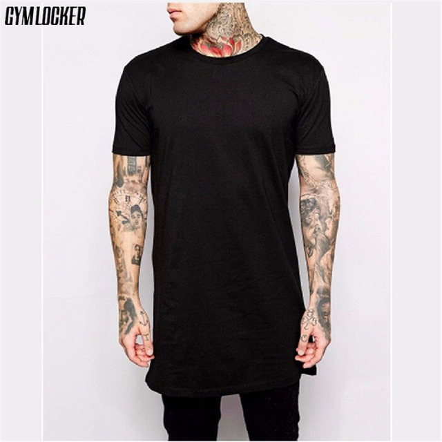 829f64b11548f GYMLOCKER 2017 брендовая новая одежда мужская черная длинная футболка  мужские топы хип-хоп футболка мужская
