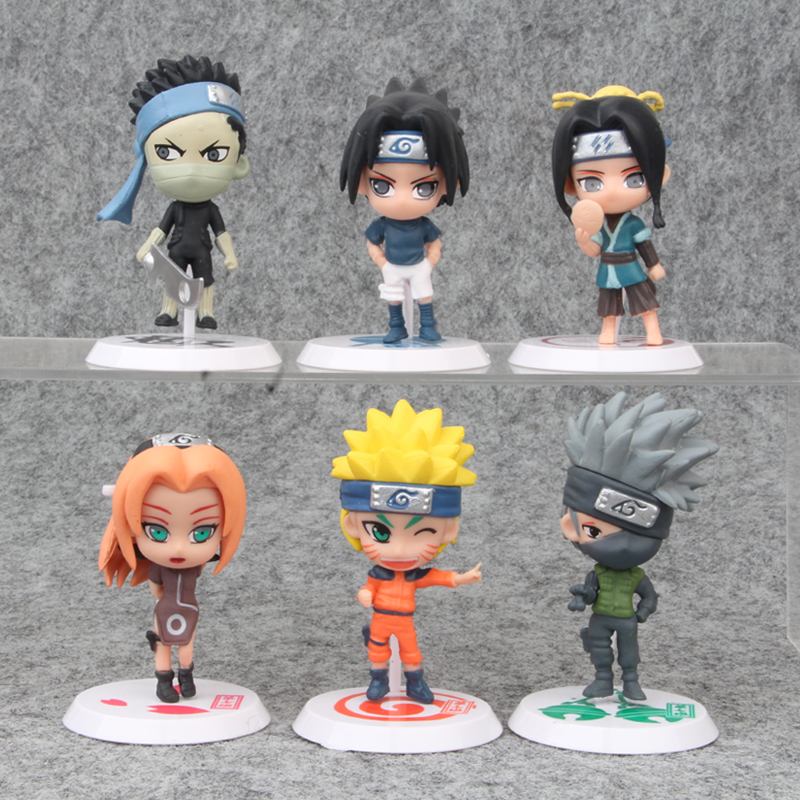 6 pcs/ a lot Naruto Gals Hyuuga Hinata Jiraiya Haruno Figurine Naruto PVC Figures Toy Collection Model Dolls gift for childrenAction & Toy Figures