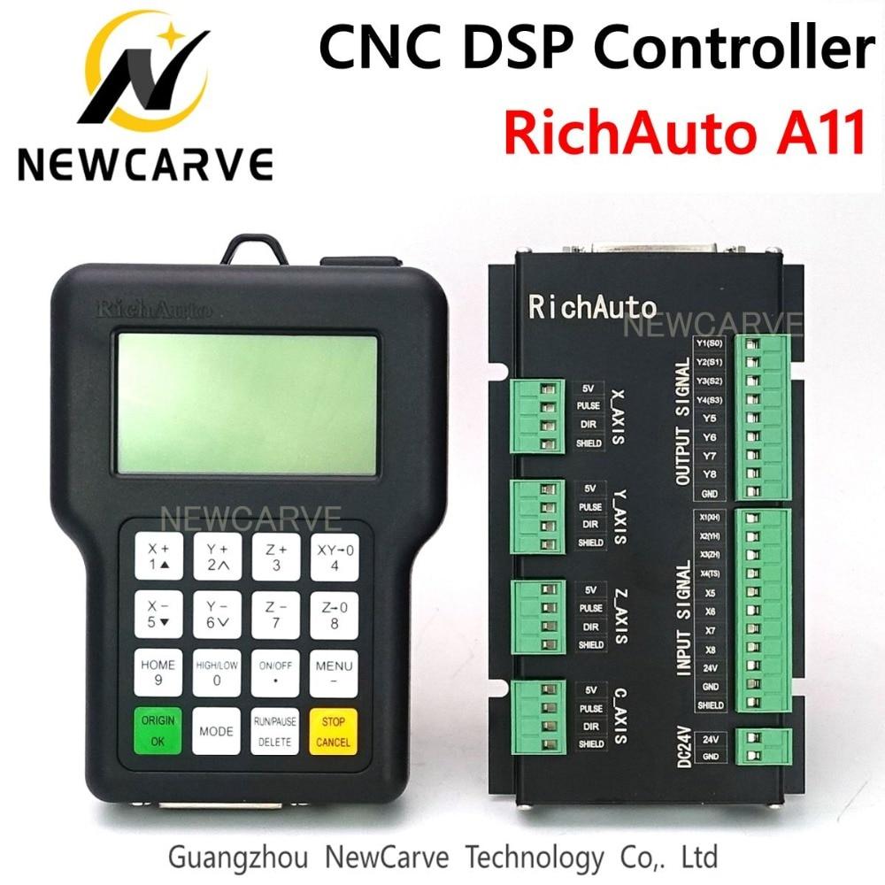 Контроллер с ЧПУ richauth DSP A11 A11S A11E, 3-осевой пульт дистанционного управления USB для системы управления фрезерным станком с ЧПУ, ручная работа