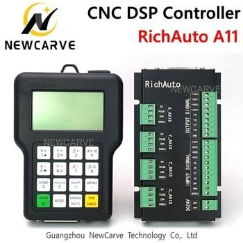 Cnc Controller Richauto Dsp A11 A11S A11E 3 Axis Usb Controller Remote Voor Cnc Router Controlesysteem Handleiding Newcarve-in CNC Controller van Gereedschap op