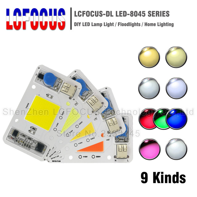 20W 30W 50W Warm Natural Cool White Red Green Blue Full Spectrum SMD COB AC 220V LED Bulb Chip Outdoor Grow Lamp Floodlight