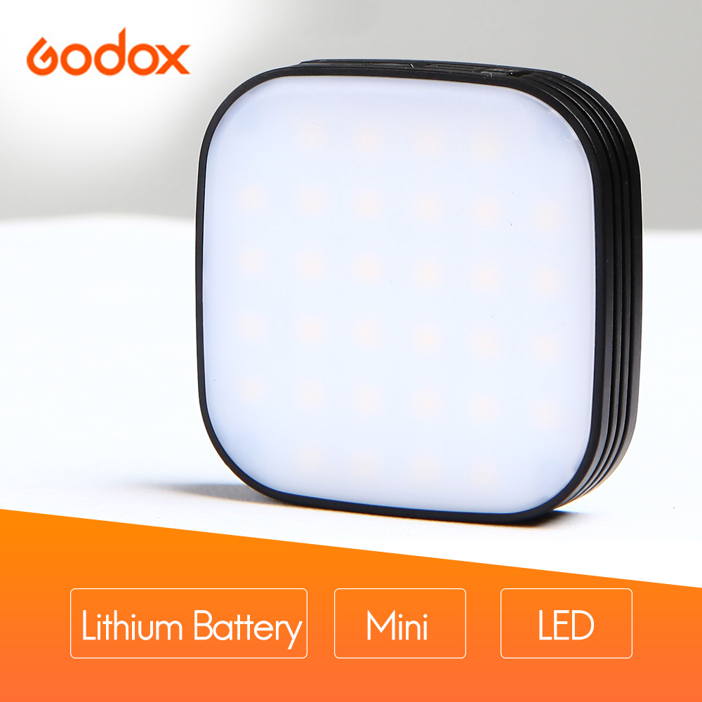 GODOX LEDM32 Mini Video Light Mobilephone Lithium Battery Lighting LED Adjustable Brightness for Photography Phones