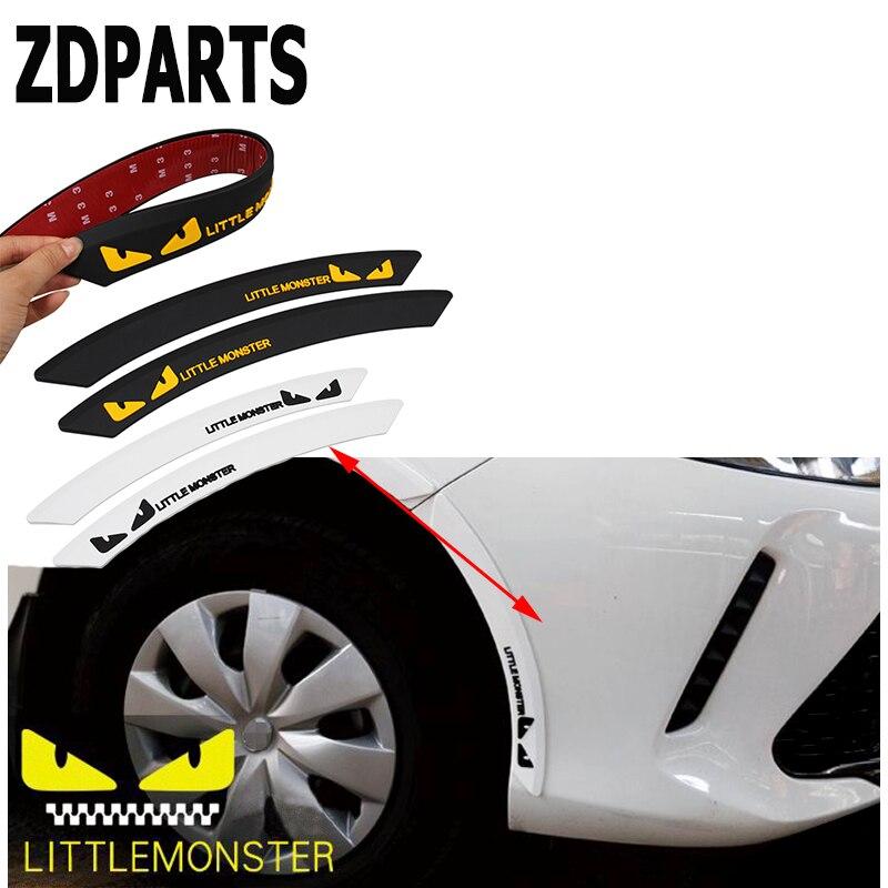 ZDPARTS 2X Car Protect Fender Wheel Edge Eyebrow Stickers For Lada Granta Vesta Kalina Priora Toyota Corolla Avensis Rav4 Fiat