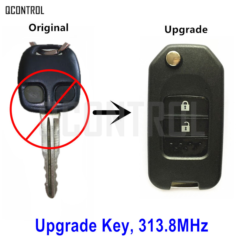 QCONTROL Upgraded Remote Key for MITSUBISHI Outlander Pajero Airtreck L200 with MIT8 Blade 313 8MHz without