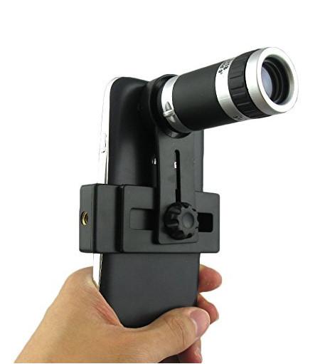 Elecguru Universal 8X Optical Zoom Telescope Camera Lens with Mini Tripod Holder for Mobile iPhone Samsung Galaxy S5 I9600 2