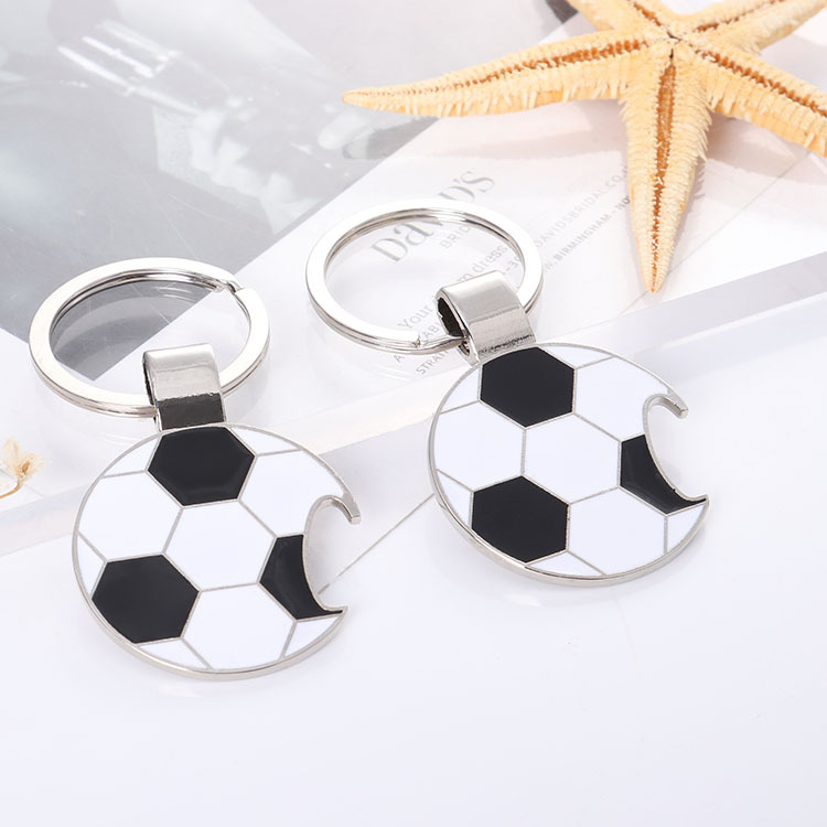 Metal Keychain Football Bottle Opener Keychain Gift Men Women Soccer Star Soccer Club Fans Keychain Silver Toy Gift in Key Chains from Jewelry Accessories