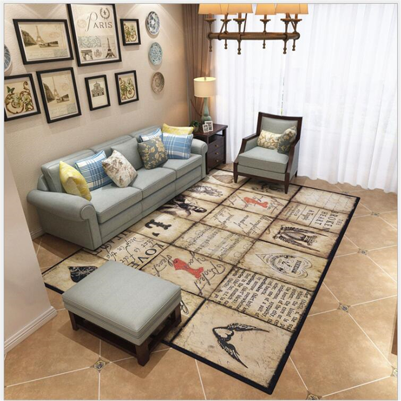 US $48.24 40% OFF AOVOLL American Pastoral Vintage Large Area Rug Carpet  For Living Room Carpet Bedroom Rugs And Carpets For Home Living Room-in ...