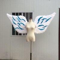 2017 с белыми ангельскими крыльями реквизит подиумный показ Опора фестиваль Крылья Ангела из перьев Статуэтка нижнее белье Подиум питания