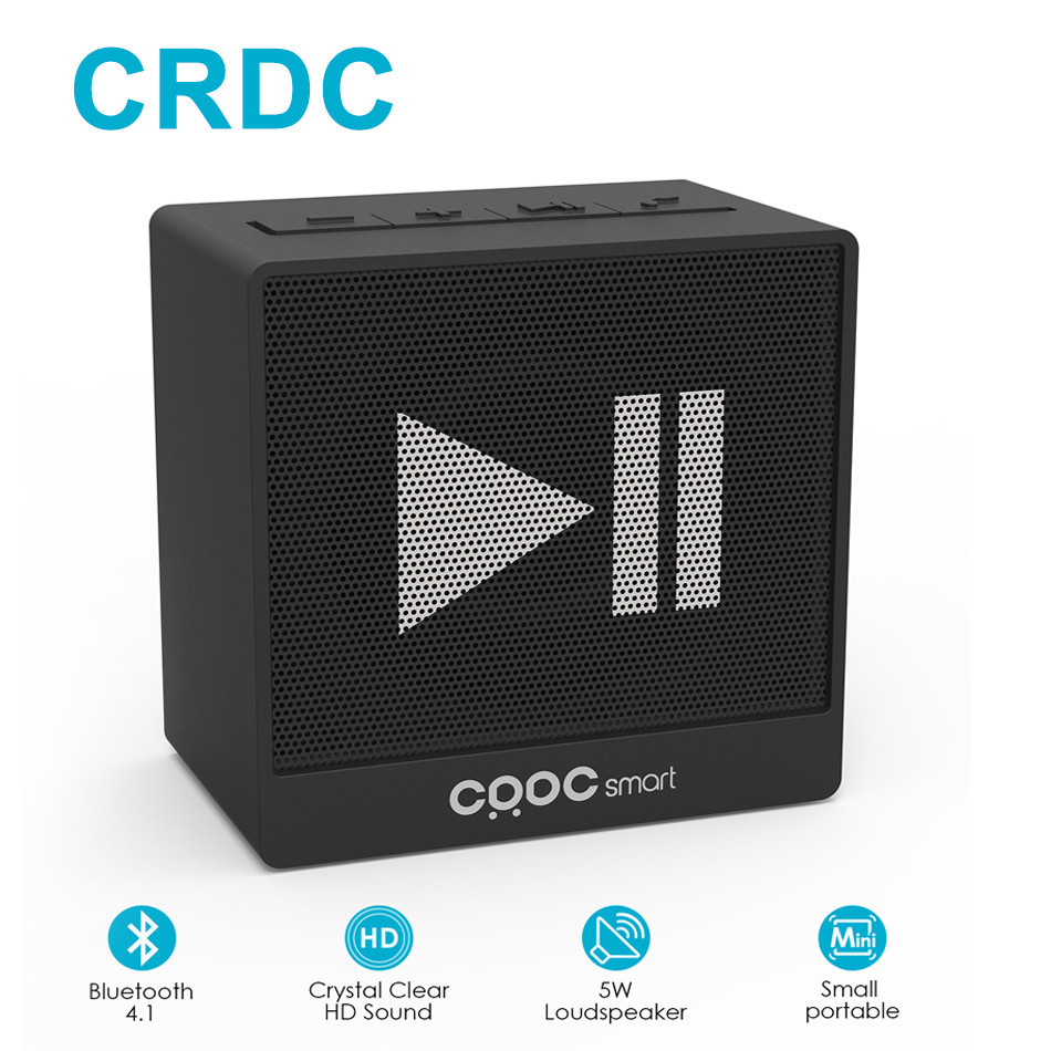 CRDC Portable Bluetooth Speaker 5W Mini Subwoofer Super Bass Stereo Outdoor Wireless Speaker With Microphone 3.5mm for Xiaomi