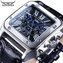 Jaragar Mens Watches Top Brand Luxury Self-Wind Automatic Mechanical Square Roman Number Design Bezel Watch Montre Homme Clock