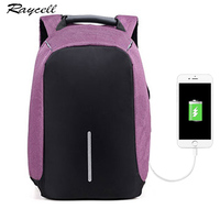 Business Women Anti Theft Backpack USB Port Laptop Charging Pink For Men Waterproof Women Laptop Backpack
