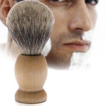 1 Pc Best Shaving Razor Brush Badger Hair Wood Handle Men Shave Beard Barber Tool high quality shaving brush horse goat hair solid wood handle mens shaving brush for men s beard shave tool shaving razor brush