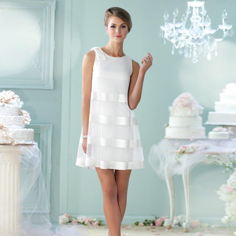 Sin mangas único Vintage cortos vestidos boda en Vestidos de novia ...