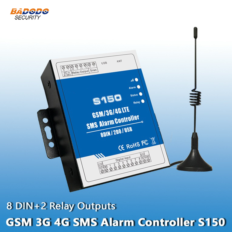 Gsm 2g 3g 4g Rtu Controller Unit Remote Controller Alarm S150 8 Digital Inputs Industrial Automation Security Monitoring System To Ensure A Like-New Appearance Indefinably Access Control
