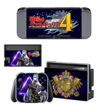 Valkyria Chronicles 4 Decal Vinyl Skin Sticker for Nintendo Switch NS Console + Controller +Stand Holder Protective