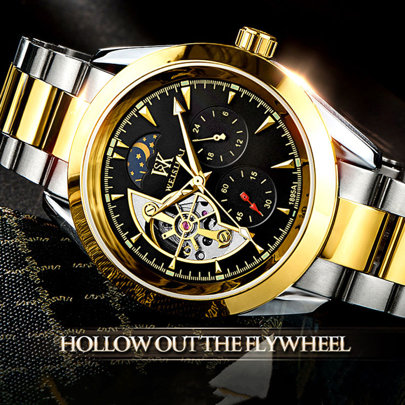 Mens Watches Top Brand Luxury Automatic Mechanical Watch Men Full Steel Business 30M Waterproof Sport Watches Relogio Masculino reloj hombre 2017 mens watches top brand luxury automatic mechanical watch waterproof business wrist watch men relogio masculino