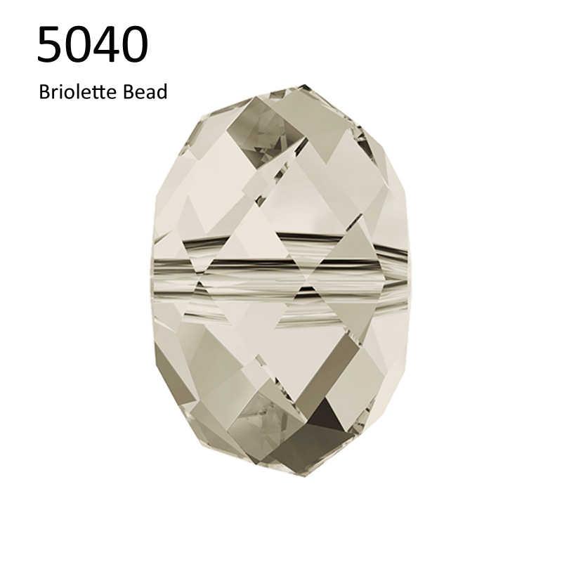 (1 חתיכה) 100% מקורי קריסטל סברובסקי 5040 Briolette חרוז תוצרת אוסטריה loose חרוזים ריינסטון לdiy תכשיטי ביצוע