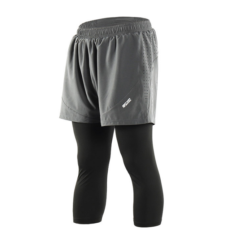 """Quick Dry Men Sports 7"""" Running Shorts Active Training Exercise Jogging 2 IN 1 Shorts With Longer Liner 5 Colors"""