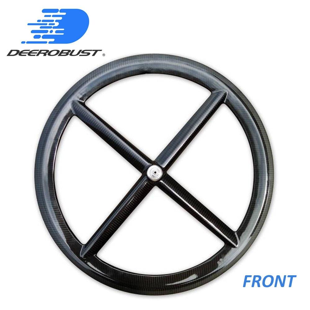 FRONT Carbon Wheel CLINCHER/TUBULAR 700C 50mm Four Spokes 4 Spoke Road/Track/Fixed Gear/Triathlon/TT Bike WheelsFRONT Carbon Wheel CLINCHER/TUBULAR 700C 50mm Four Spokes 4 Spoke Road/Track/Fixed Gear/Triathlon/TT Bike Wheels