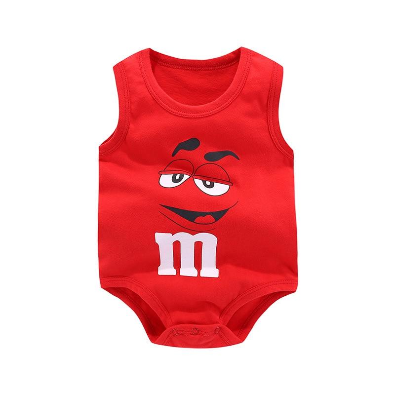 2018 Nieuwe Baby Mouwloze Vest Zomer Driehoek Pasgeboren Bodysuit - Babykleding - Foto 2