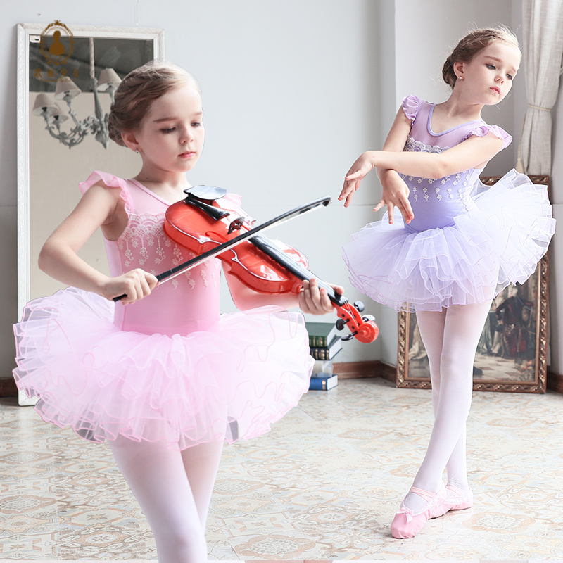 2-10Y Children Ballet Dresses Summer Romantic Ballerina Dance Costume For Girls 4 Layers TUTU Leotard Dancewear Ballet Clothes