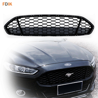 Sport Full G Black Front Radiator Grille Grill Trim Replacement Honeycomb Mesh Insert for Ford Mondeo Fusion 2013 2016
