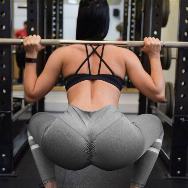 Gym Push Up Leggings For Women 2018 New Patchwork
