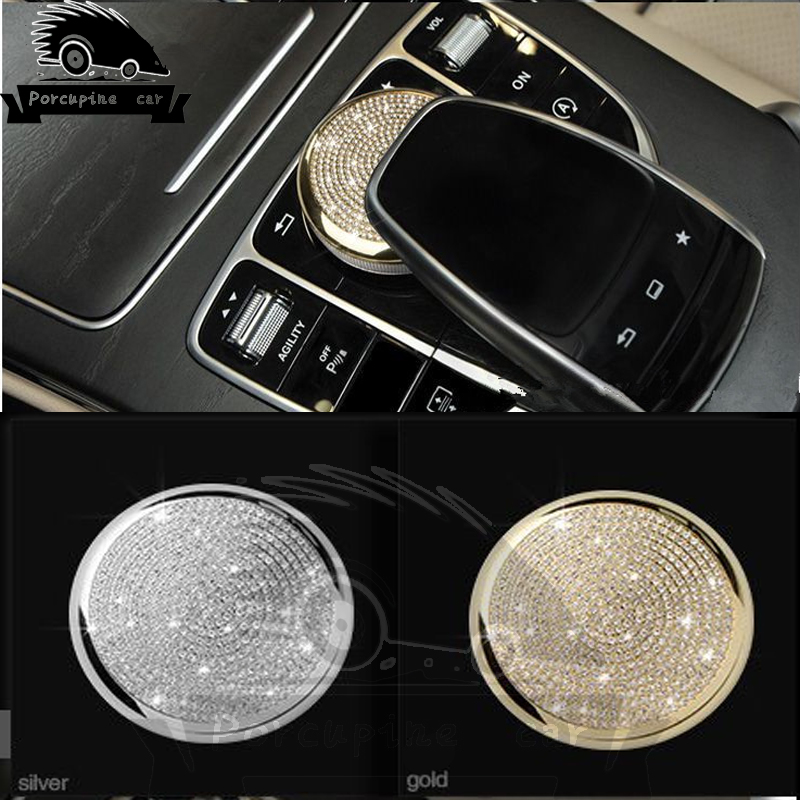 Botão Central Do Mouse Carro Estilo do carro Adesivo Película Protetora para Mercedes Benz Classe C E Classe W213 W205 Auto acessórios