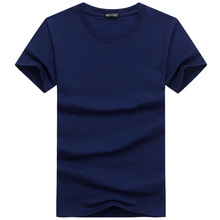 Casual Style Plain Solid Color Men #8217 s T-shirts Cotton Navy Blue Regular Fit T-shirts Summer Tops Tee Shirts Man Clothing 5XL cheap Bro HYD Sis Short O-Neck Tees short sleeves Broadcloth spandex S M L XL 2XL 3XL 4XL 5XL Black White navy blue blue sky blue
