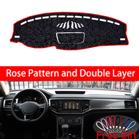 Rose Pattern For Volkswagen Teramont 2017 2018 2019 Dashboard Cover Car Stickers Car Decoration Car Accessories Interior Decals
