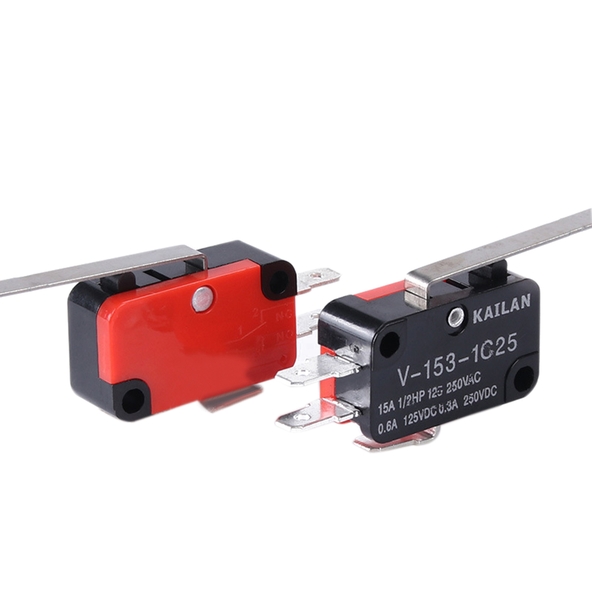 10pcs/lot Precision V-153-1C25 Limit Switch Long Straight Hinge Lever Type SPDT Micro Switch For Electronic Measuring Appliance